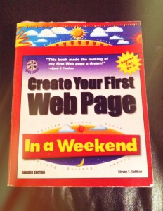 My first web design book